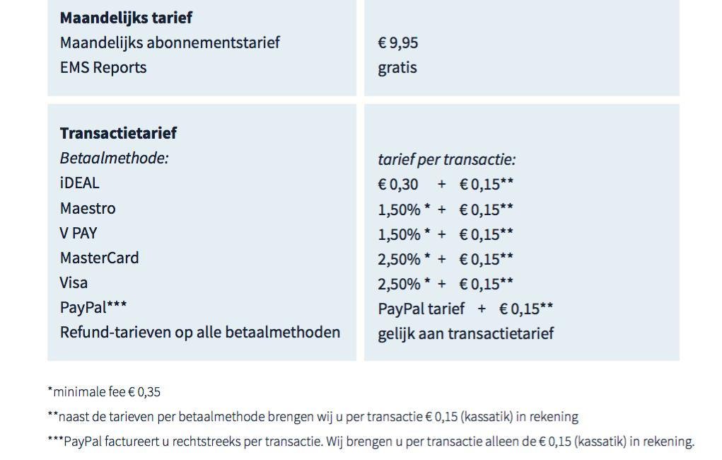 Kosten Multi Payment Services