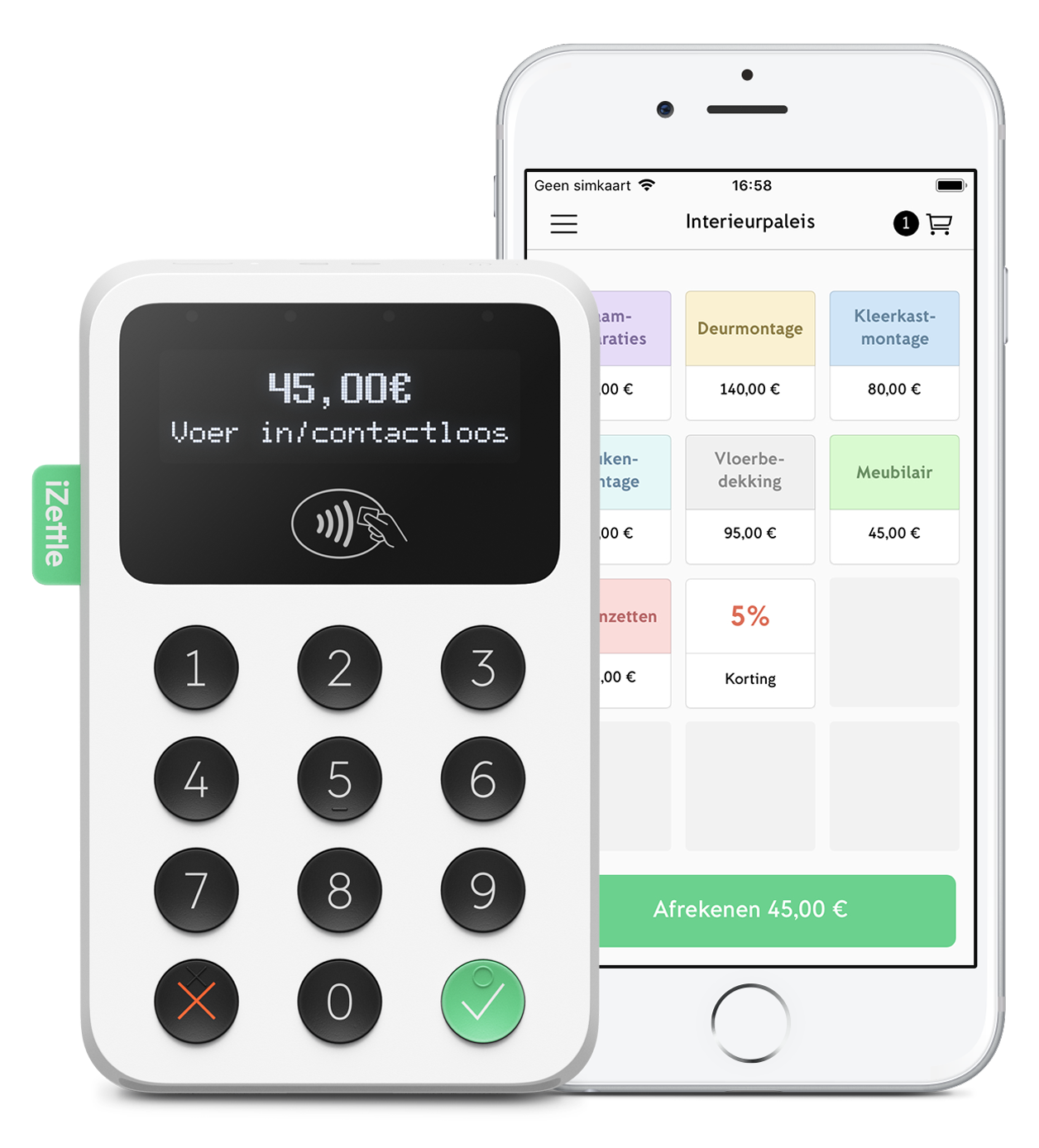 iZettle mobile pinnen